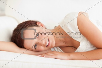 Close up of a relaxing woman