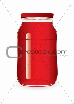 Jam jar strawberry