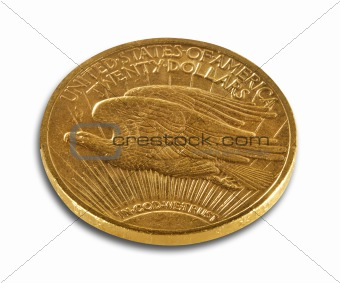 Gold coin, isolated