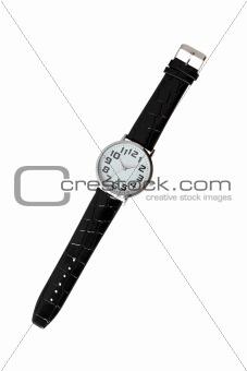 Modern Wristwatch On White