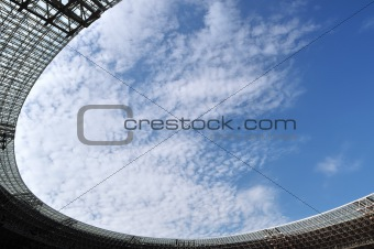 Stadium roof and sky