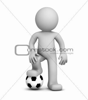 3d football player.