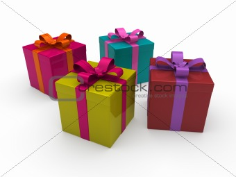 3d gift box color