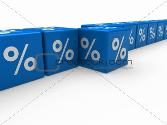 3d blue sale cube percentage