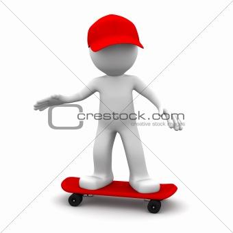 3D skateboarder