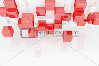 Abstract image of cubes