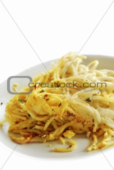 Appetizing pasta on plate