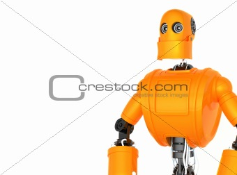 Standing Orange Robot