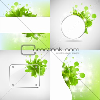 Abstract Backgrounds With Blots