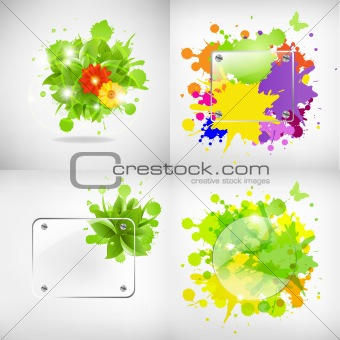 Backgrounds With Glass And Blots