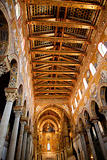 gold painted ceiling of Monreale Cathedral