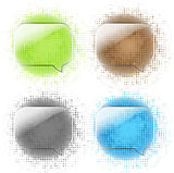 Glass Speech Bubbles Set