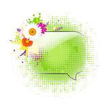 Glass Speech Bubbles With Gerber