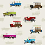Vintage cars pattern