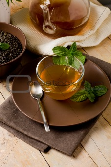 Green mint tea