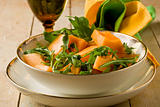 Melon and Arugula salad