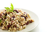Risotto with black olives