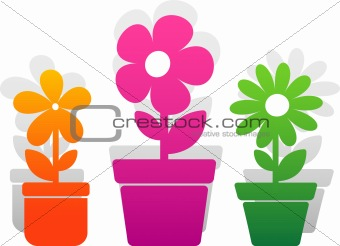 Three vector flower