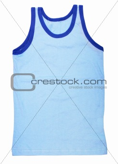 Blue jersey isolated on white background