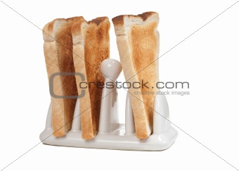 Toast in a Toast Rack
