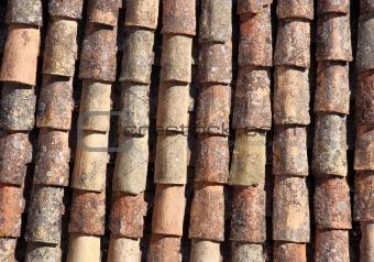 Old tiled roof