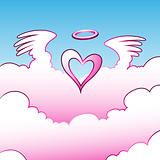 Angel Heart over the Clouds