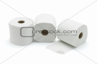 Three toilet rolls