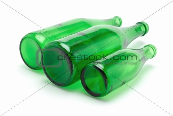 Three green bottles