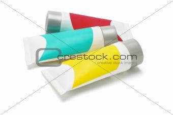 Three cosmetic tubes