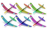 Styrofoam toy aeroplanes