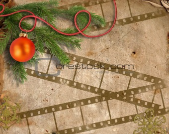 background image with Christmas tree