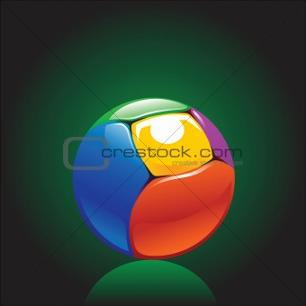 colorful and shiny chromium ball graphics