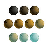 metallic balls design element