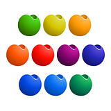colorful tapered sphere design element