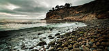 Rocky beach along Palos Verdes Cliff