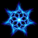 Blue fire flower