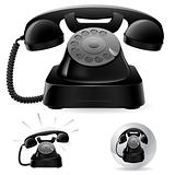 Old black phone icons