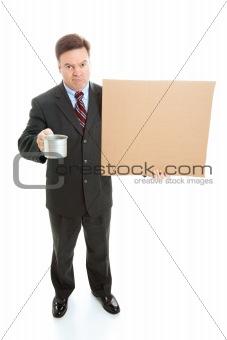 Broke Businessman Panhandling