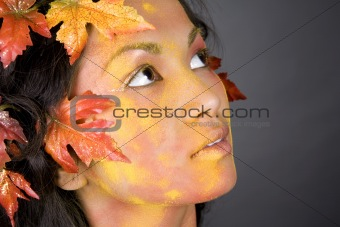 beautiful fall face