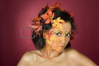 beautiful fall face