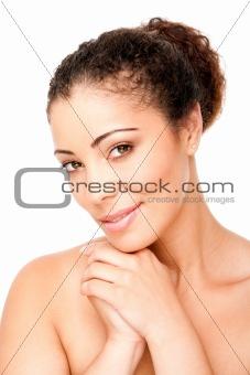 Clear skin beauty