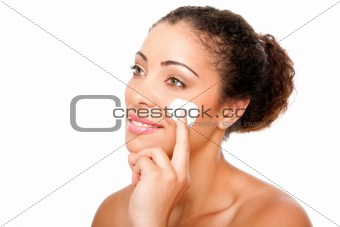 Facial cream beauty treatment