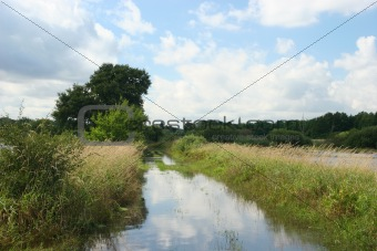 Flooded river floodplain