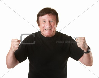 Excited Mature Man