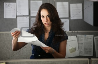 Frustrated Woman Office Worker