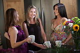 Pregnant Women Enjoying Coffee
