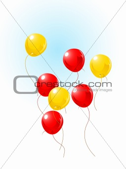 balloons flying on sky