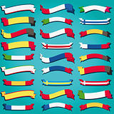 Ribbons of Europe vector flag