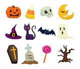 Halloween icons set