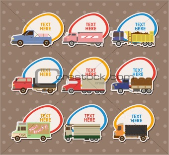 Truck Stickers ,vector